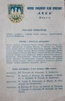 Arka Gdynia league programme Spring round 1974