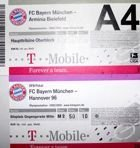 Bayern Munich Bundesliga and German Cup 2002-2003 tickets (two)