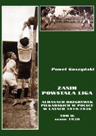 Before league start. The Almanach of football competitions in Poland 1919-1926. Volume II: 1920