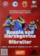 Bosnia and Herzegovina - Gibraltar FIFA World Cup qualyfing match (25.03.2017) official programme