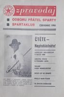 Bulletin of Sparta Plaga Fan's Club (July 1981)