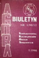 "Bulletin of Sport Souvenirs Collectors Association ""Agora"" nr 1(12)/1990"