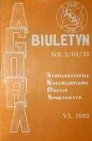 "Bulletin of Sport Souvenirs Collectors Association ""Agora"" nr 2(22)/1992"