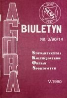 "Bulletin of Sport Souvenirs Collectors Association ""Agora"" nr 3(14)/1990"