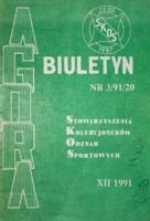 "Bulletin of Sport Souvenirs Collectors Association ""Agora"" nr 3(20)/1991"