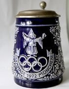 Ceramic mug with tin lid. Olympic Games 1972 (with signature)