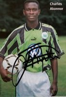 Charles Akonnor (VfL Wolfsburg) photo with original autograph