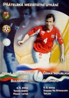 Czech Republic - Bulgaria and Czech Republic - Estonia official friendlies matches programme (02/06.06.2004)