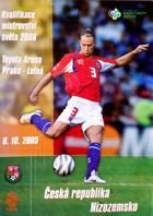 Czech Republic - Netherlands World Cup 2006 official qualifying match programme (08.10.2005)
