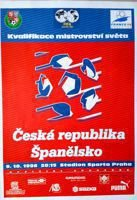 Czech Republic - Spain World Cup 1998 qualifying match programme (09.10.1996)
