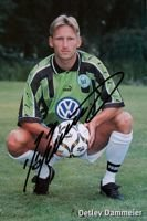 Detlev Dammeier (VfL Wolfsburg) photo with original autograph