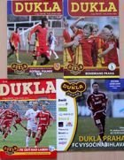 Dukla Prague II League 2008-2009 official programmes (4 items)