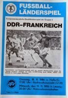 East Germany - France UEFA Euro 1988 qualifying match (19.11.1986) programme