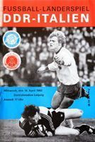 East Germany - Italy friendly match (14.04.1982) programme