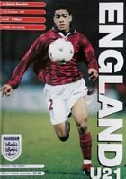 England - Czech Republic U21 friendly match (17.11.1998) official programme