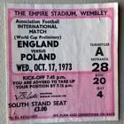 England - Poland World Cup 1974 qualification match ticket (17.10.1973)