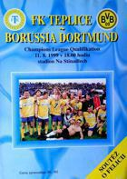 FK Teplice - Borussia Dortmund Champions League qualification official match programme (11.08.1999)