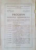 Fencing Academy - Cracow (25.06.1922) Official programme