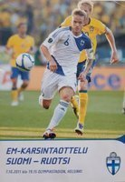 Finland – Sweden Euro qualifying official programm (07.10.2011)