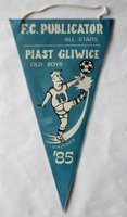 Football match FC Publicator All Stars - Piast Gliwice Old Boys pennant (September 1985)