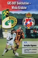 GKS Belchatow - Wisla Cracow Orange Ekstraklasa (11.12.2005) official programme