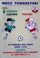 Gornik Leczna - The Poland Team friendly match official programme (29.08.2001)