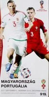 Hungary - Portugal FIFA World Cup qualyfing match (03.09.2017) official programme