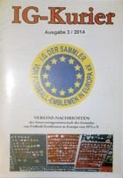 """IG Kurier"" Europe Football Badges Collectors Association magazine nr 3/2014"
