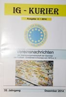 """IG Kurier"" Europe Football Badges Collectors Association magazine nr 4/2014"