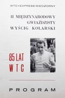 II International Starry Cyclin Race. 85th Anniversary of Warsaw Cycling Club official programme