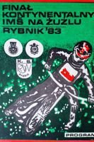 Individual Speedway World Championship Continental Final official programme (Rybnik, 06.08.1983)