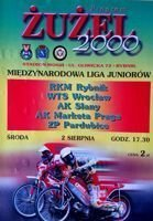 International Juniors Speedway League programme (Rybnik, 02.08.2000)