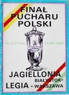 Jagiellonia Bialystok - Legia Warsaw Poland Cup Final (24.06.1989) official programme