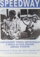 Janusz Stachyra Jubilee Speedway Tournament programme (19.05.1991)