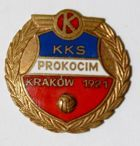 KKS Prokocim Cracow with garland and ball (enamel)