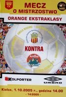 Korona Kielce - Amica Wronki Orange Ekstraklasa official programme (01.10.2005)