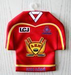 LKH Lodz ice hockey team mini t-shirt car hanger