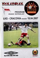 LKS Lodz - KS Cracovia Orange Ekstraklasa match (18.04.2007) official programme