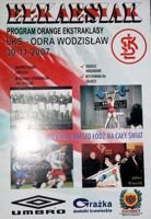 LKS Lodz - Odra Wodzislaw Slaski Orange Ekstraklasa match (30.11.2007) official programme