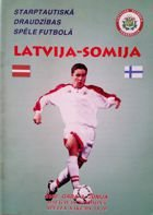 Latvia - Finland official friendly match programme (03.06.2000)