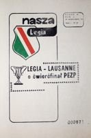 Legia Warsaw - Lausanne Sports Cup Winners' Cups (21.10.1981) official programme