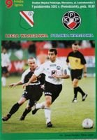 Legia Warsaw - Polonia Warsaw I league match official programme (07.10.2002)