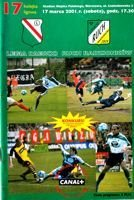 Legia Warsaw - Ruch Radzionkow I league match official programme (17.03.2001)