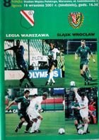 Legia Warsaw - Slask Wroclaw I league match official programme (16.09.2001)