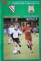 Legia Warsaw - Stomil Olsztyn I league match official programme (27.10.2001)