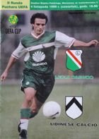 Legia Warsaw - Udinese Calcio UEFA Cup (04.11.1999) official programme