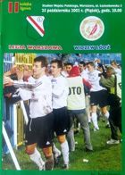 Legia Warsaw - Widzew Lodz I league (25.10.2002) official programme