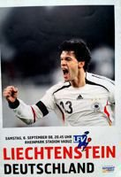 Liechtenstein - Germany 2010 FIFA World Cup qualification official match programme (06.09.2008)