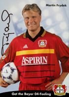 Martin Frydek (Bayer Leverkusen) photo with original autograph