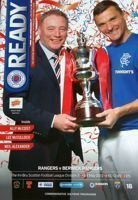 Match program Rangers -  Berwick Rangers 04.05.2013
